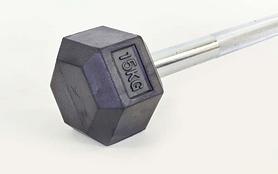 Фото 2 к товару Штанга Rubber Hexagon Barbell TA-6230-15 15 кг