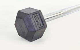 Фото 3 к товару Штанга Rubber Hexagon Barbell TA-6230-25 25 кг