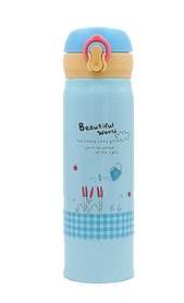 Бутылка для воды Spider Beautiful World 2462-B 450 мл голубая