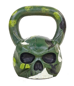 Гиря чугунная ZLT Skull TA-5707-20 20 кг черная