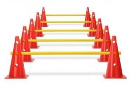 Набор барьеров с конусами Yakimasport 100026