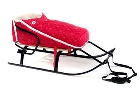 Конвертик для коляски и санок меховый AL-MATR4-12 красный