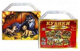 Кубики развивающие Gamma Любимые герои (в пластиковом чемоданчике)