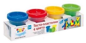 """Набор для детского творчества Genio Kids """"Тесто для лепки 4 цвета"""""""