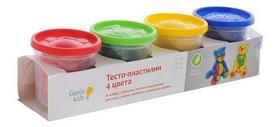 "Набор для детского творчества Genio Kids ""Тесто-пластилин 4 цвета"""