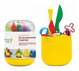 "Набор для лепки мини Genio Kids ""Тесто-пластилин 6 цветов"""