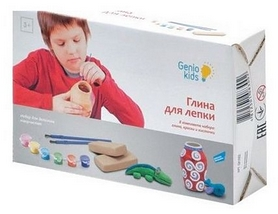"""Набор для творчества Genio Kids """"Глина для лепки"""""""