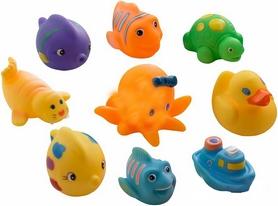Набор игрушек для ванной в виниловой сумочке Grow Up 9 шт