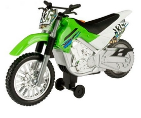Мотоцикл Toy State Kawasaki KLX 140 Moto-Cross Bike 25 см зеленый