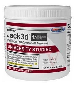 Спецпрепараты (предтренировочный комплекс) USP Labs Jack 3d University Studied, 250 г (45 порций)