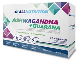 Спецпродукт AllNutrition Ashwagandha + Guarana (30 капсул)