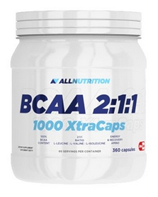 Аминокислоты AllNutrition BCAA AN BCAA 2:1:1 1000 Xtra (360 капсул)