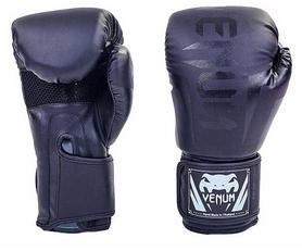 Перчатки боксерские на липучке Venum BO-5698-BK черные