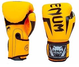 Перчатки боксерские на липучке Venum BO-5698-OR оранжевые