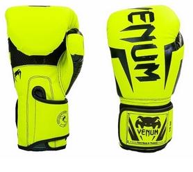 Перчатки боксерские на липучке Venum BO-5698-Y желтые