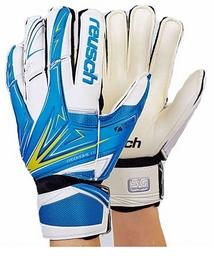 Перчатки вратарские с защитными вставками на пальцы Reusch FB-824-1 синие
