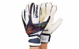 Перчатки вратарские с защитными вставками на пальцы Reusch FB-824-2 черные