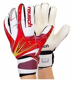 Перчатки вратарские с защитными вставками на пальцы Reusch FB-824-3 красные