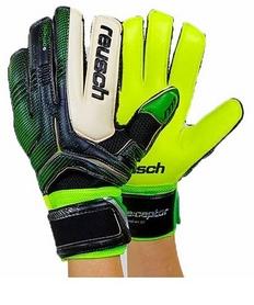 Перчатки вратарские с защитными вставками на пальцы Reusch FB-869-1 салатовые