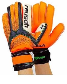 Перчатки вратарские с защитными вставками на пальцы Reusch FB-873-1 оранжевые