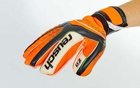 Фото 3 к товару Перчатки вратарские с защитными вставками на пальцы Reusch FB-873-1 оранжевые