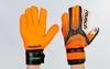 Перчатки вратарские с защитными вставками на пальцы Reusch FB-873-1 оранжевые - фото 2