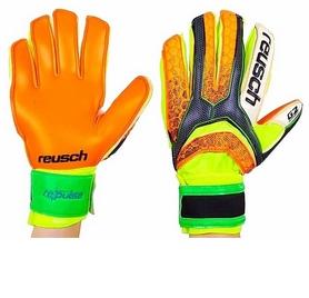 Перчатки вратарские с защитными вставками на пальцы Reusch FB-873-2 желтые