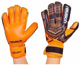 Перчатки вратарские с защитными вставками на пальцы Reusch FB-882-2 оранжевые