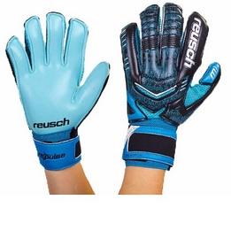 Перчатки вратарские с защитными вставками на пальцы Reusch FB-882-3 синие