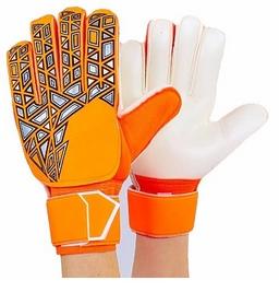 Перчатки вратарские с защитными вставками на пальцы Reusch FB-888-3 оранжевые