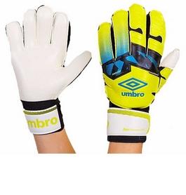 Перчатки вратарские с защитными вставками на пальцы Umbro FB-894-1 желтые