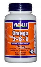 Спецпрепарат Now Omega 3-6-9, (100 капсул)