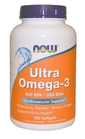 Спецпрепарат Now Ultra Omega-3 (180 капсул)