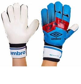 Перчатки вратарские с защитными вставками на пальцы Umbro FB-894-3 синие