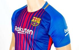 Фото 3 к товару Форма футбольная детская (шорты, футболка) Soccer Barcelona 2018 домашняя CO-3900-BAR-8 синяя