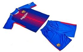 Фото 4 к товару Форма футбольная детская (шорты, футболка) Soccer Barcelona 2018 домашняя CO-3900-BAR-8 синяя