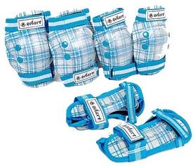 Защита для катания детская (комплект) Zel SK-4678BL голубая