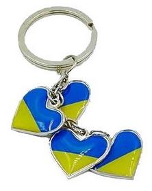 """Распродажа*! Брелок Atribute Ukraine """"Четыре сердца"""" FB-4395"""