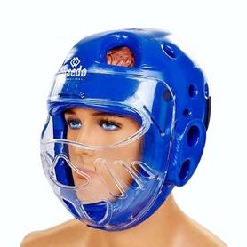 Шлем для тхэквондо с пластиковой маской Daedo BO-5490-B синий
