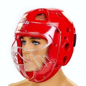 Шлем для тхэквондо с пластиковой маской Daedo BO-5490-R красный