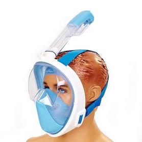 Маска для снорклинга с дыханием через нос Dorfin F-118-BL синяя
