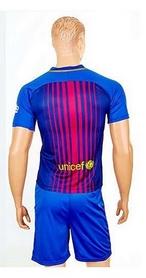 Фото 2 к товару Форма футбольная детская (шорты, футболка) Soccer Barcelona 2018 домашняя CO-3900-BAR-8 синяя