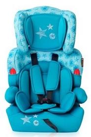 Автокресло детское Lorelli Kiddy Aquamarine Stars 9-36 кг, бирюзовое