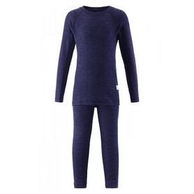 Комплект термобелья шерстяной детский Reima Oy темно-синий