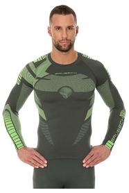 Термофутболка мужская с длинным рукавом Brubeck Dry LS13080 зеленая