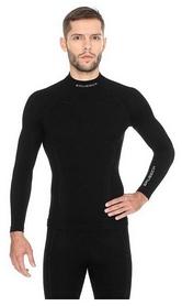 Термофутболка мужская с длинным рукавом Brubeck Extreme Wool LS11920 черная