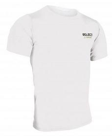 Футболка компрессионная Select Compression T-Shirt S/S 6900 белая