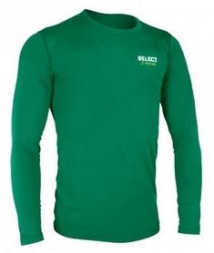 Футболка компрессионная с днинным рукавом Select Compression T-Shirt L/S 6901 зеленая - L