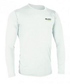 Футболка компрессионная с днинным рукавом Select Compression T-Shirt L/S 6901 белая