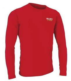 Футболка компрессионная с днинным рукавом Select Compression T-Shirt L/S 6901 красная